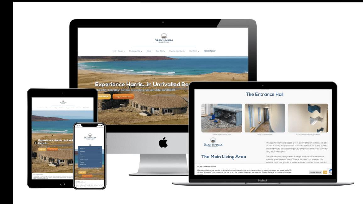 self catering business responsive website